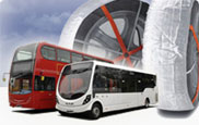 Snow socks for buses