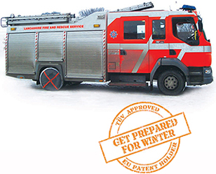 Fire engine and AutoSock stamp