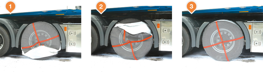 Autosock Fitting Instruction Images