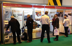 Autosock Stand at the Commercial Vehicle Show