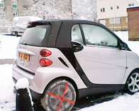 Smart Car with AutoSock on