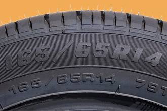 find tyre size